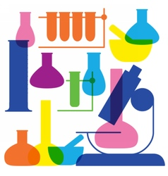 Laboratory and education icon - beaker vector image