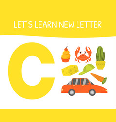 Lets learn new letter a educational game vector