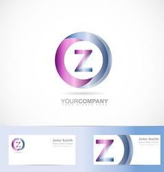 Letter Z cirlce logo vector