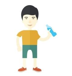 Man drinking water vector