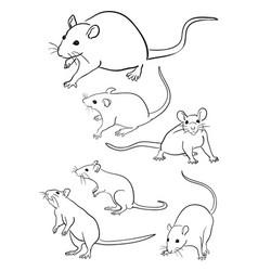 mice line art 05 vector image