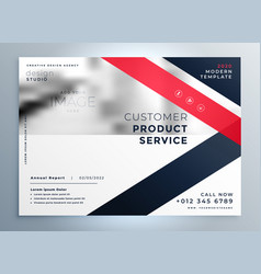 modern red business flyer professional vector image