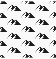 Mountains seamless pattern Tourism vector image