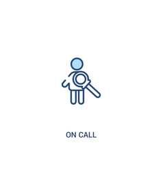 On call concept 2 colored icon simple line vector