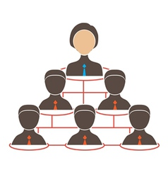 Organization chart with icons women and man vector