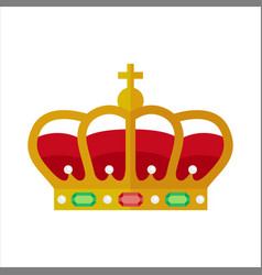 ornate crown vector image