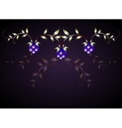 Pattern of blackberries on a purple base EPS10 vector image
