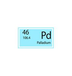 Periodic table element palladium icon element of vector