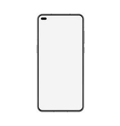 phone mockup realistic 3d blank smartphone vector image