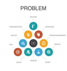 Problem infographic 10 steps conceptsolution vector