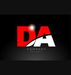 Red white color letter combination da d a vector