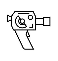 retro 8mm film camera vector image