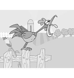 Royalty free rf clipart country farm scene vector