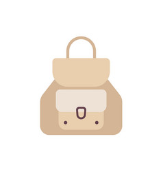 school backpack in flat style bag icons kids vector image