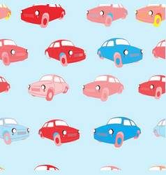 Seamless background with cars vector