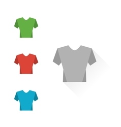Set of colour t-shirts vector