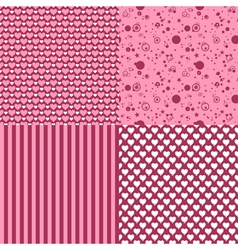 set of romantic patterns vector image