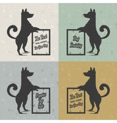 Set sign dog vector
