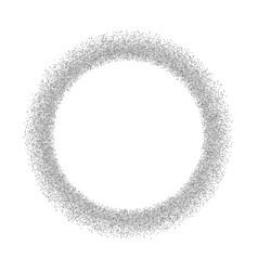 silver circle glitter frame gray confetti dots vector image