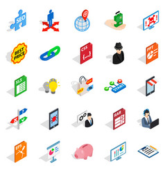Specialist training icons set isometric style vector
