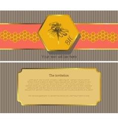 The invitation 10 vector