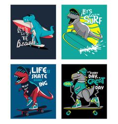 Tshirt design for kids set vector