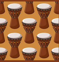 Turkish or african traditional drums seamless vector