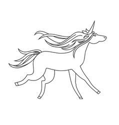 unicorn icon character 09 vector image