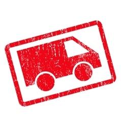 Van Icon Rubber Stamp vector image