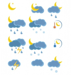 weather night icon vector image