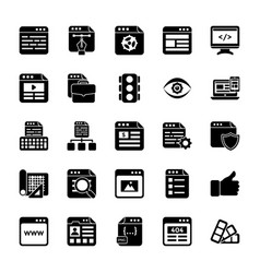 Web design glyph icons vector