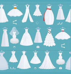 wedding ceremony bride white dress model elegance vector image vector image