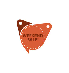 weekend sale tag template isolated vector image