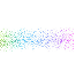 white background with colorful geometric pattern vector image