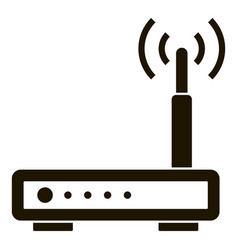wifi smart router icon simple style vector image