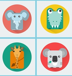 Wild Animals Icons Set vector image