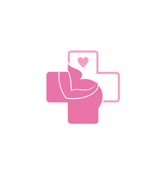 women health pregnancy logo vector image