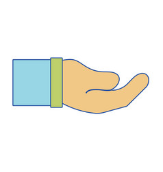 businessman hand and communication gesture vector image vector image