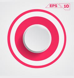 circle button icon vector image vector image
