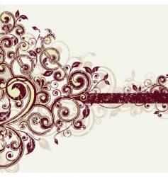 grunge leaf design vector image vector image