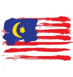 Malaysia grunge flag vector image