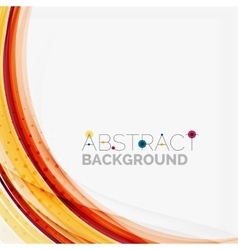 Purple and orange color lines on white vector image vector image