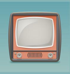 retro vintage old tv placeholder frame icon vector image