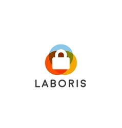 Security lock logo design logotype vector image vector image