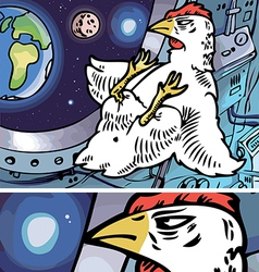 Space Chicken vector image
