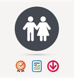 couple icon traditional young family sign vector image