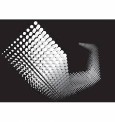 dots growing black and white vector image vector image
