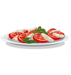 salad with mozzarella vector image vector image