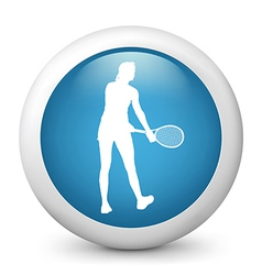 Tennis glossy icon vector image