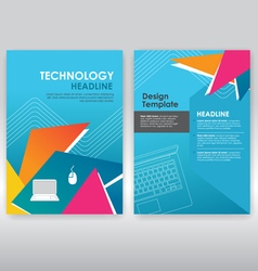 abstract triangle brochure design template vector image vector image